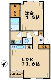プラッツハイム2階Fの間取り画像