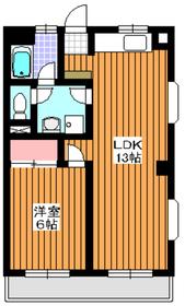 林屋ビル7階Fの間取り画像