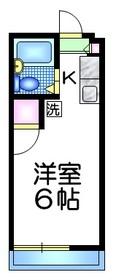 コーポ多田2階Fの間取り画像