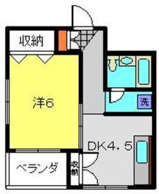 第1内田ビル2階Fの間取り画像