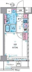GENOVIA横浜鶴見市場skygarden6階Fの間取り画像
