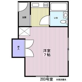 佐々木ハイツ2階Fの間取り画像