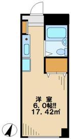 田邊ビル2階Fの間取り画像