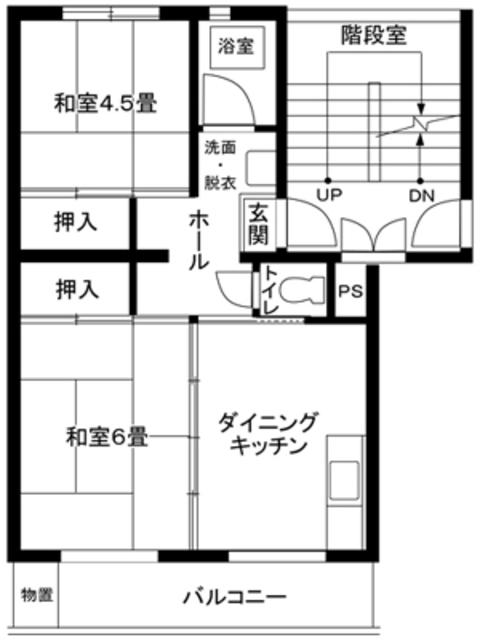 竹山第1 間取り図