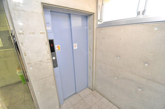 メゾンフレール エレベーターホールもオシャレで、綺麗に片づけられています。