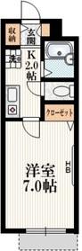 ストラッセ1階Fの間取り画像