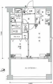 スカイコート押上弐番館6階Fの間取り画像