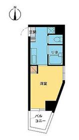 スカイコート高田馬場第37階Fの間取り画像