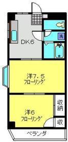 エクシード213階Fの間取り画像