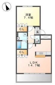 イズミガーデンヒルズ3階Fの間取り画像