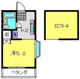 アルコープ笹野台2階Fの間取り画像