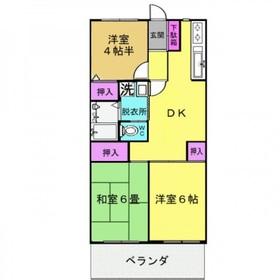 メゾン・ド・ソレイユ1階Fの間取り画像