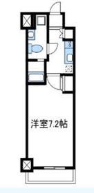 レジディア本厚木6階Fの間取り画像
