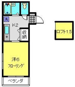 カーサシノハラ2階Fの間取り画像