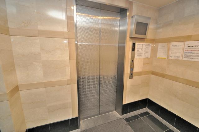 リュミエールイースト エレベーター付き。これで重たい荷物があっても安心ですね。