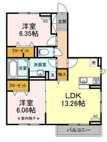 クレストアサヒ3階Fの間取り画像