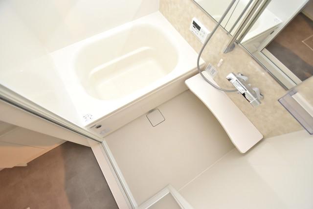 セレナヴィラ下小阪W ちょうどいいサイズのお風呂です。お掃除も楽にできますよ。