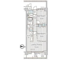 フェールメゾン西大島2階Fの間取り画像
