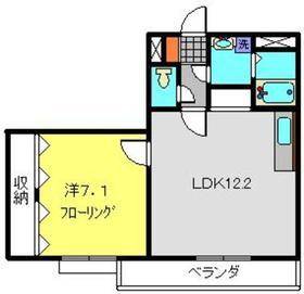 ロイヤルドレイク2階Fの間取り画像