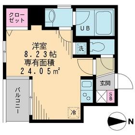 ベルメイユ ドゥ2階Fの間取り画像