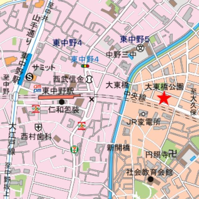 スカイコート新宿第8案内図