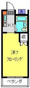 クアトロ日吉2階Fの間取り画像