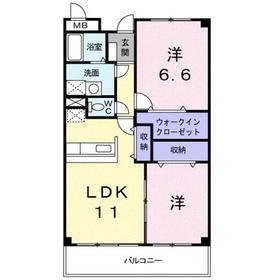 エル・ファーレA2階Fの間取り画像