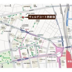ヴェルデコート西新宿案内図