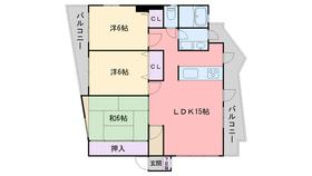 メイプル藤崎3階Fの間取り画像