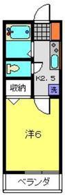 オメガパレス9丁目2階Fの間取り画像