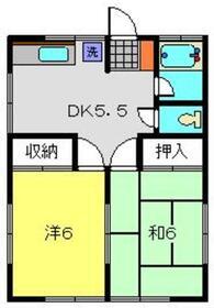 シャルマン荘2階Fの間取り画像