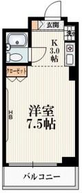 アーバンコート田村4階Fの間取り画像