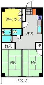 元住吉駅 徒歩16分2階Fの間取り画像