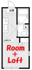 ハーミット横浜2階Fの間取り画像