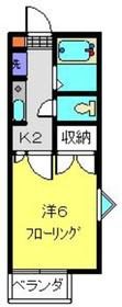 プリムローズ1階Fの間取り画像