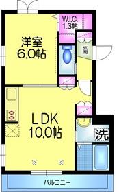 Comfort.Hiro コンフォートヒロ2階Fの間取り画像