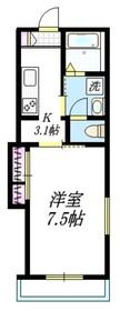 コーポ・マーサ23階Fの間取り画像