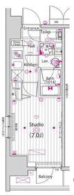 ガーラ・リバーサイド横濱南11階Fの間取り画像
