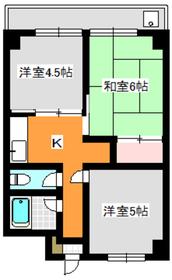 志村坂上駅 徒歩2分5階Fの間取り画像
