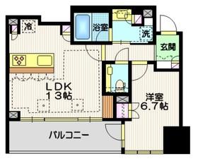 宮益坂ビルディング ザ・渋谷レジデンス10階Fの間取り画像