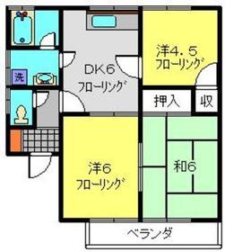 レジデンスエルムⅡ2階Fの間取り画像