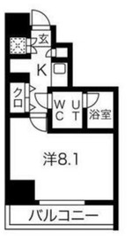 スパシエフェリーチェ川崎8階Fの間取り画像