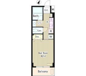 メゾン武蔵野6階Fの間取り画像