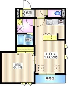 アルジェント1階Fの間取り画像