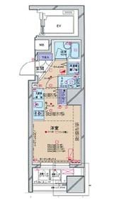 パレステュディオドルチェ本駒込9階Fの間取り画像