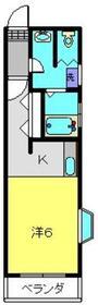 ゼウス金森ビル3階Fの間取り画像