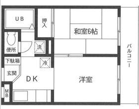 ロン・ボア・カサベール4階Fの間取り画像