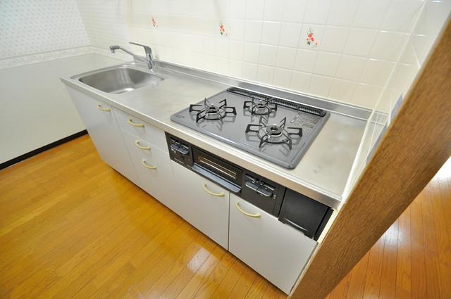 カーサヴェルデ システムキッチンは広々と使えて、お料理が楽しくなります。