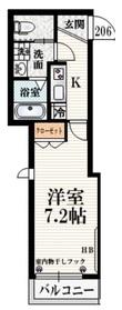 八幡山駅 徒歩5分2階Fの間取り画像