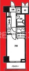 東日本橋駅 徒歩4分7階Fの間取り画像